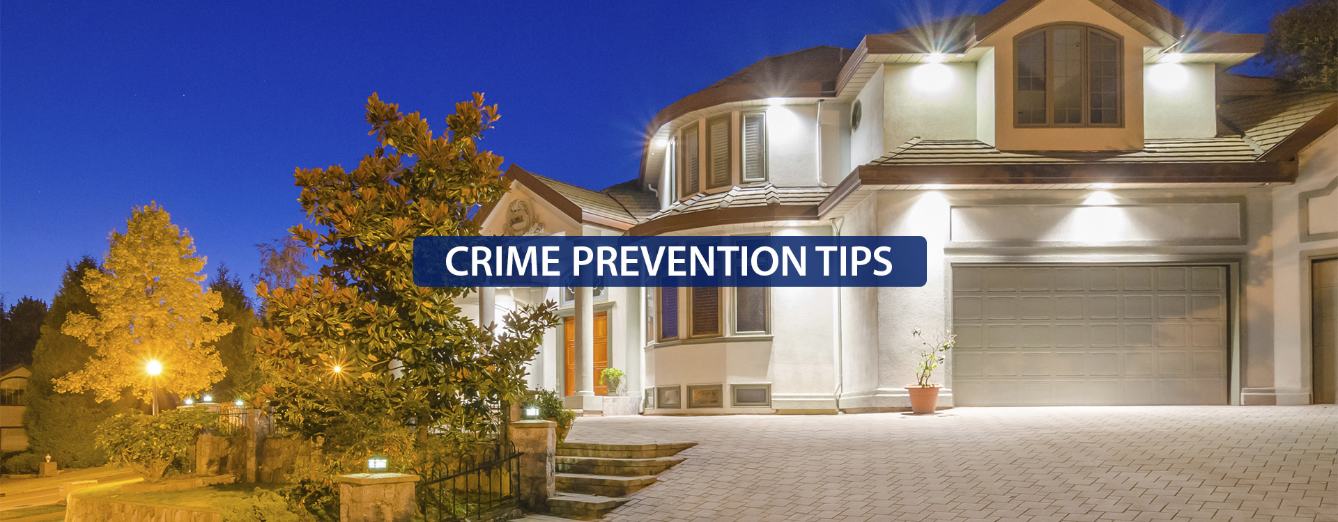 Crime prevention tips