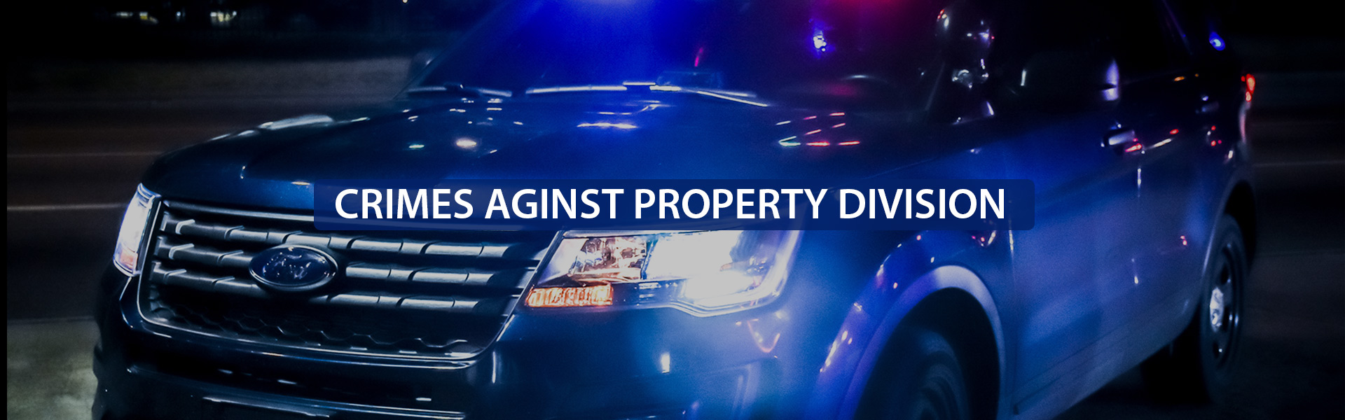 Crime Against Property Division